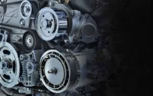 Car engine and belts